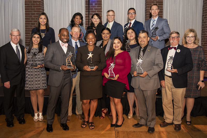 2019 Distinguished Award Honorees with Dr. May and Dr. Wilkins