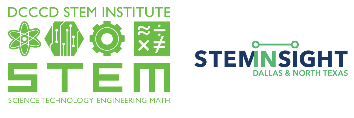 DCCCD STEM Institute logo, STEMINSIGHT logo