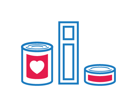 College food pantry fund icon