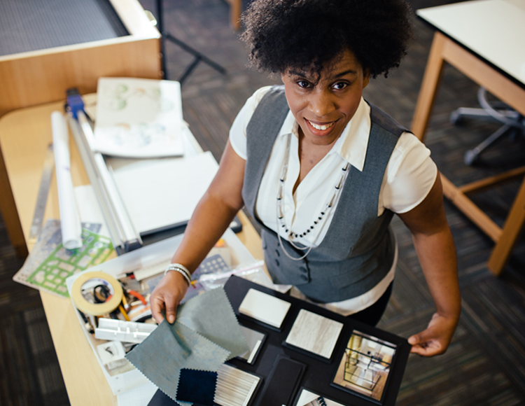 Veronica Sanders El Centro  alumni in interior design studios.