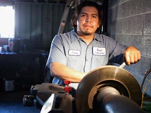 Ervey Rojas Brookhaven College automotive program graduate.
