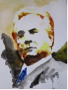 Photo of Jim Wright Brookhaven College Real Life & the Movies: the real NYC Mob Boss, John Gotti Watercolor