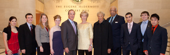Photo of John and Lyn Muse, 2011 Muse Scholars and Dr. and Mrs. Lassiter
